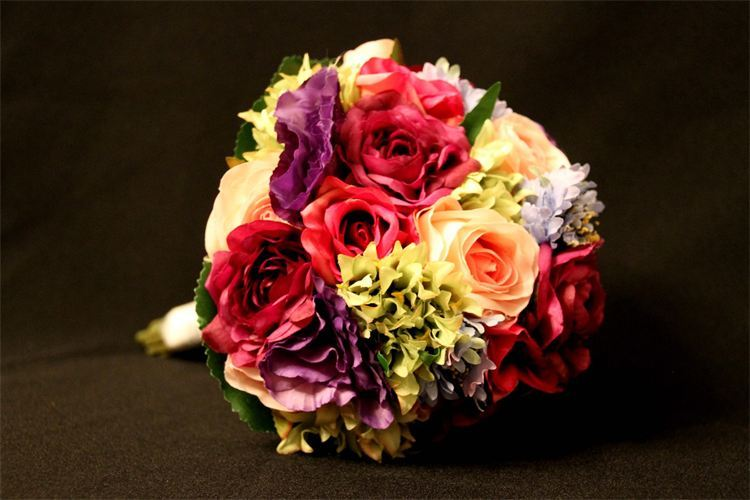 Silk flower bouquets affordable beach weddings silk flower bouquets mightylinksfo